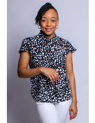 Claim Your Spot Dotted Top - BLACK