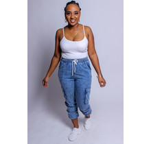Ride With Me Denim Joggers