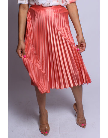 Pleats To Meet You Satin Skirt