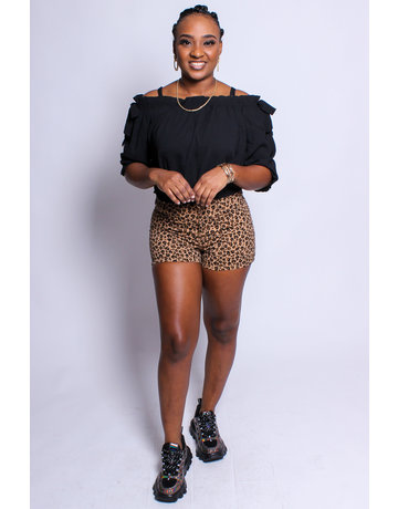 So Spotted Leopard Shorts