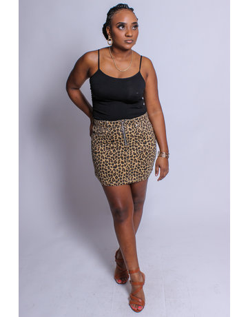 Fierce Like You Leopard Skirt