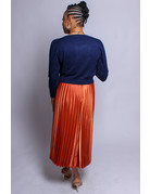 Pretty In Pleats Skirt - BURNT ORANGE
