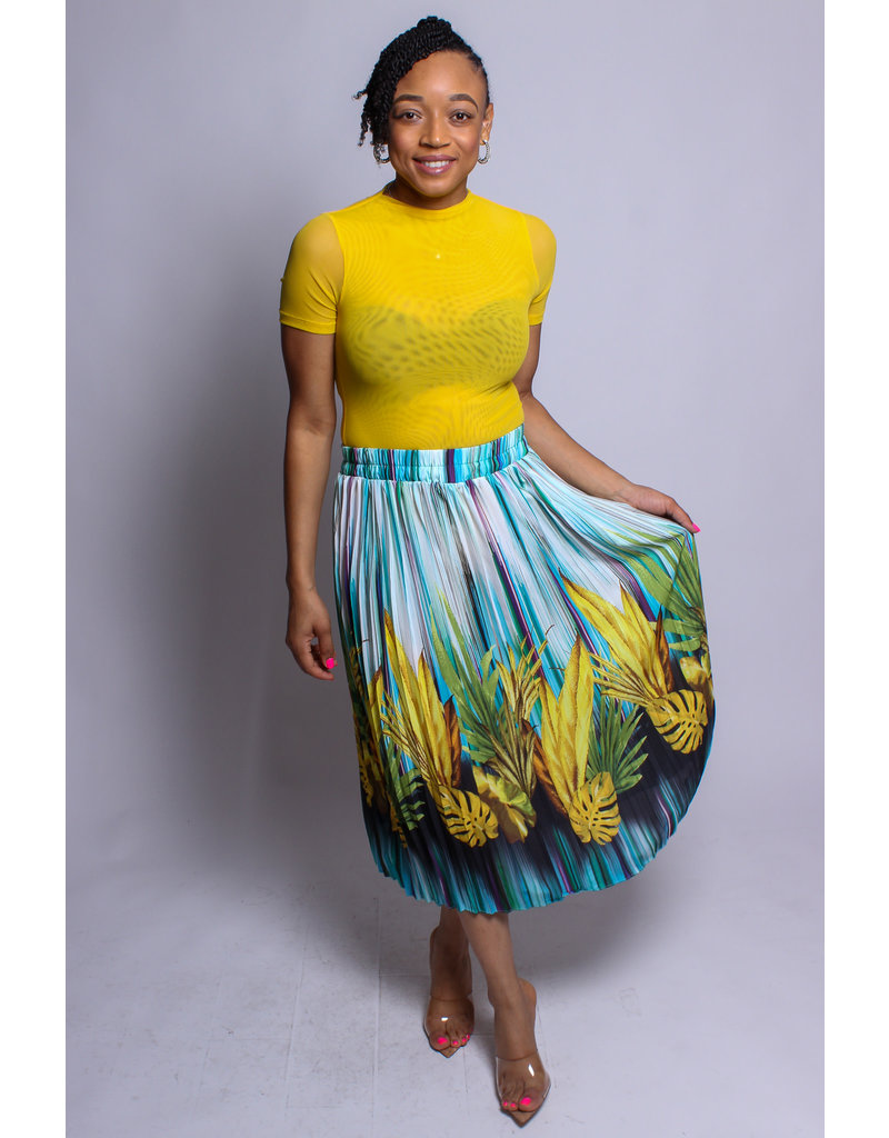 Having A Good Time Pleated Skirt
