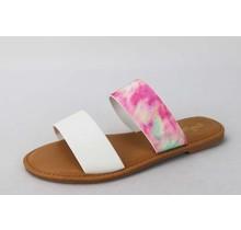 Vacay Me Sandals - Pink Tie Dye