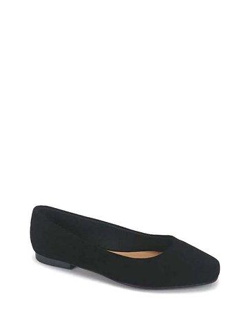 Keeping It Simple Ballerina Flats - Black