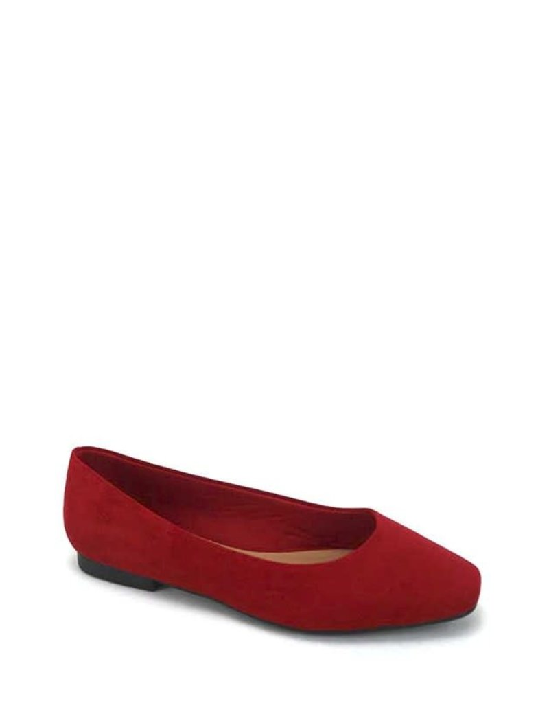 Keeping It Simple Ballerina Flats - Red