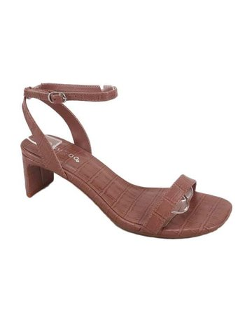 Extra Attention Heels - Dusty Rose Croc
