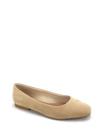 Keeping It Simple Ballerina Flats - Nude