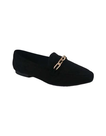 On The Clock Loafer Flats - Black