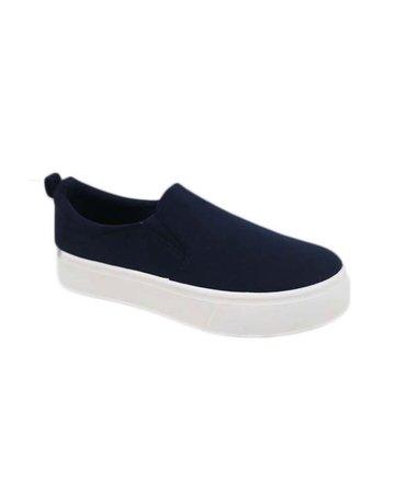 No Regrets Slip On Sneakers - Navy