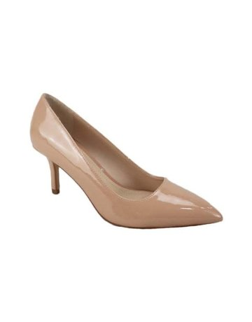 She Means Business Pumps - Nude Patent