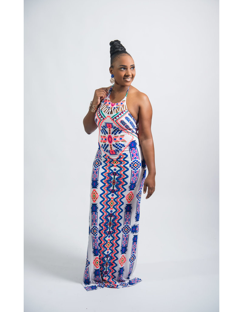 Day Dreamer Tribal Maxi Dress