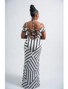 So Tempting Striped Maxi Dress