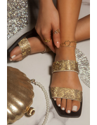 Bling Dreams Sandals - Gold