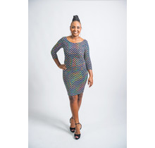 Act Up Chevron Holographic Dress