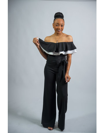 Two Can Tango Ruffle Jumpsuit