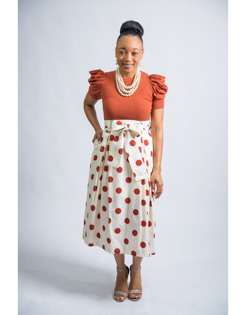 Stoplight Polka Dot Skirt