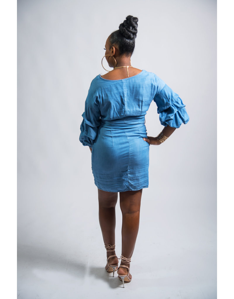 Ruffle Me Denim Dress
