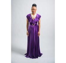 Fame & Fortune Velvet Maxi Dress Purple