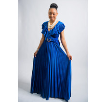 Fame & Fortune Velvet Maxi Dress Royal Blue