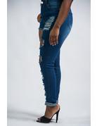 Rip It Good Straight Leg Jeans - DARK WASH