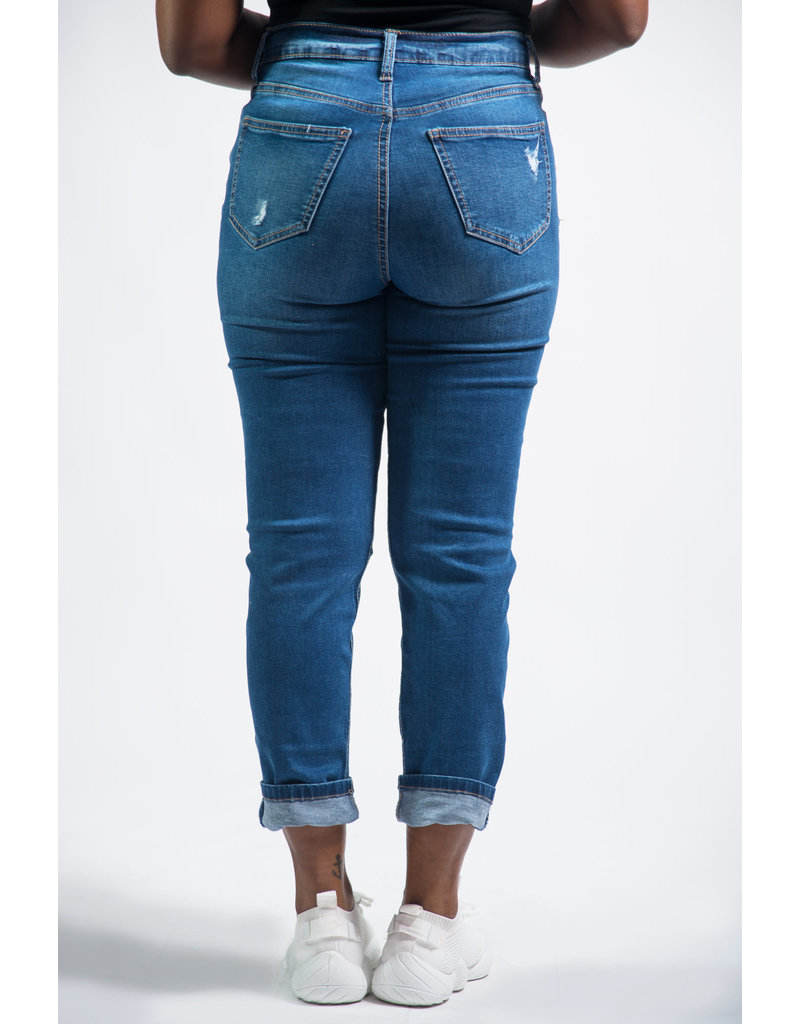 Taking Time Slim Straight Ultra High Rise Jeans