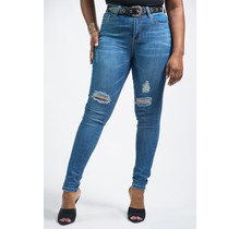 Make The Cut Belted Jeans