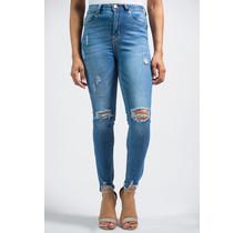Distress Signal Skinny Jeans - LIGHT WASH
