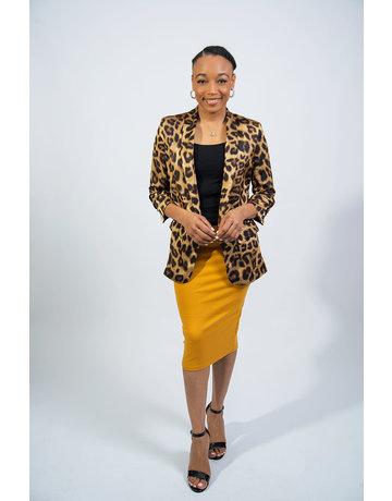 Spotted Leopard Blazer