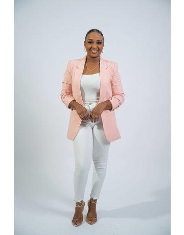 Stay Classy Blazer - Pink