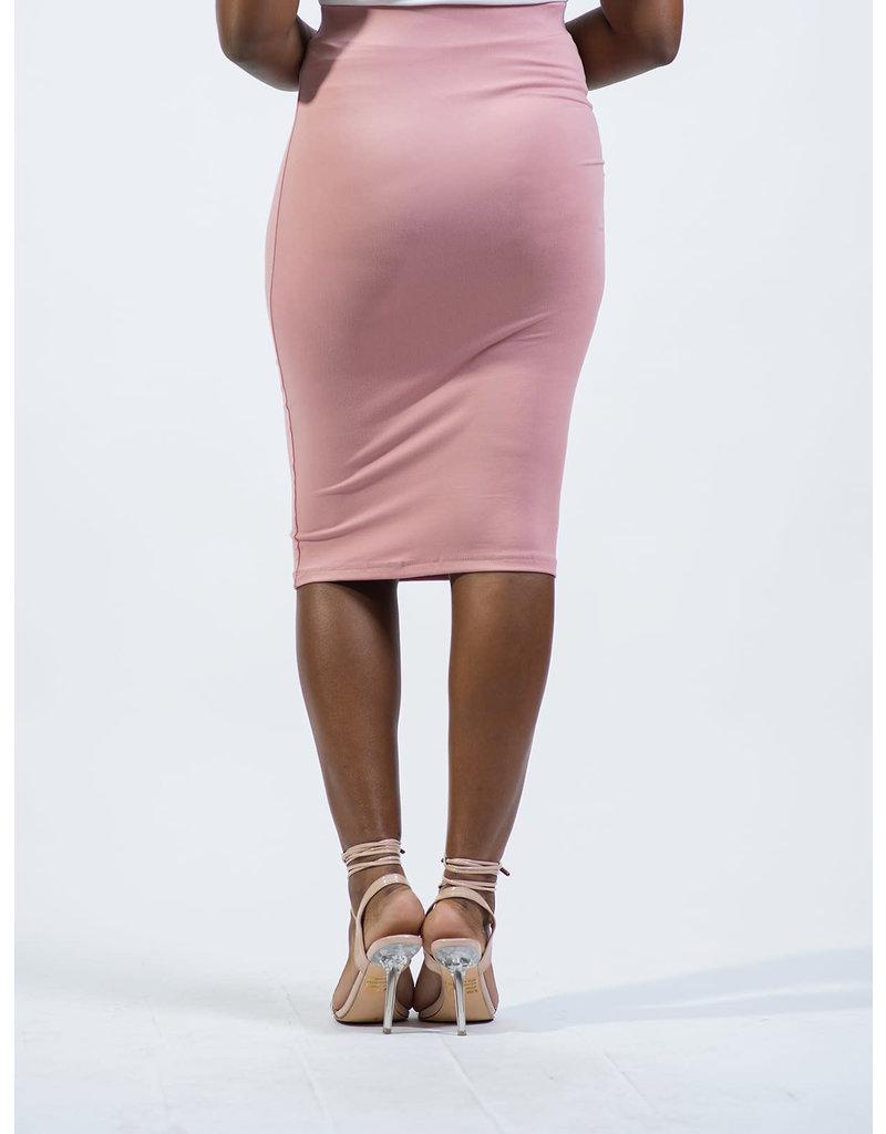 Everyday Essential Pencil Skirt - Mauve