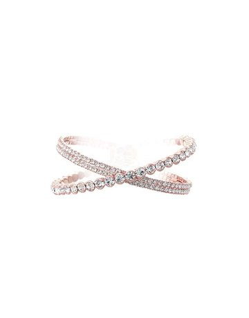 Both Worlds Rhinestone Bracelet - Rose Gold