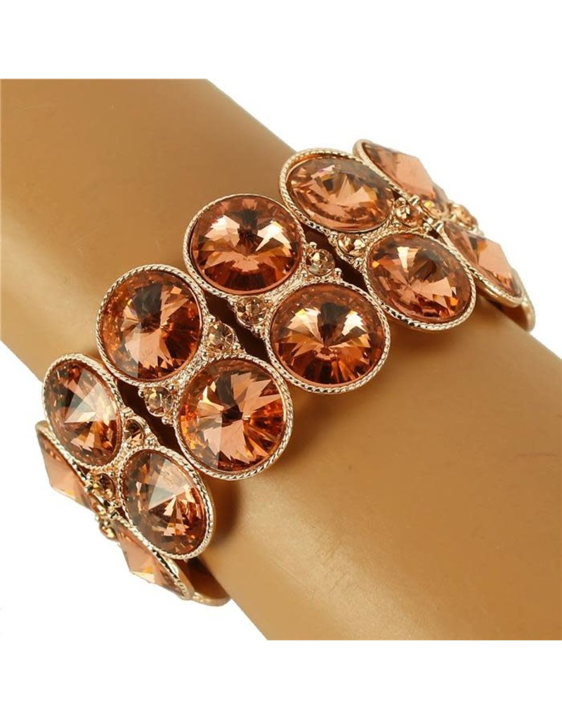Edge Out Jewel Bracelet - Rose Gold