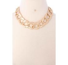 Linked Necklace Set - Gold