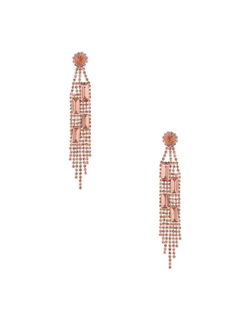 In Perfect Alignment Earrings - Rose Gold