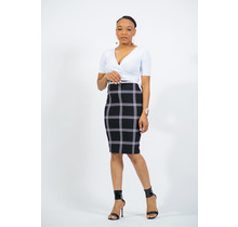 Off The Grid Belted Dress - White