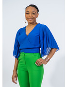 Too Blessed Bell Sleeve Top - ROYAL BLUE