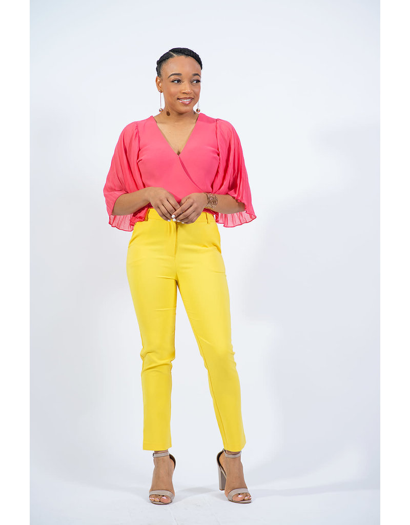 Too Blessed Bell Sleeve Top - CORAL