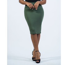 Everyday Essential Pencil Skirt - Olive