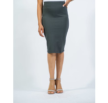 Cotton Pencil Skirt - Dark Grey