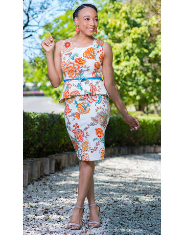 Feeling Pretty Peplum Belted Dress