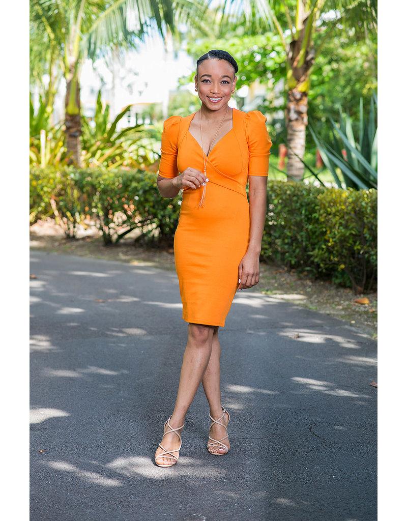 Don't Cross Me Dress - Orange