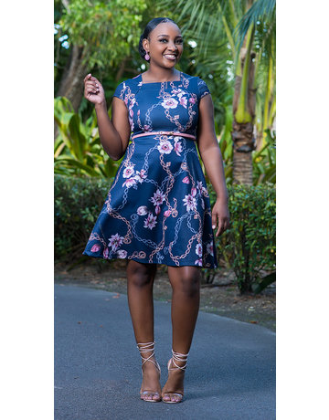 Wishing Well Floral Belted Dress