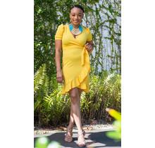Giving It All Ruffle Dress - Yellow