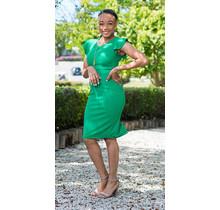Best Yet Ruffle Sleeve Dress - Green
