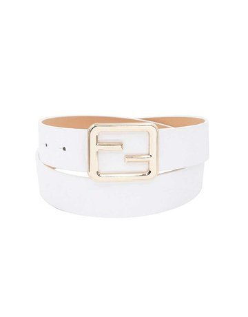 Caught Up Belt - White