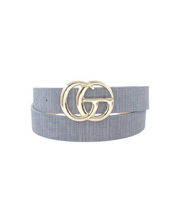 Total Knockout Textured Belt - Dusty Blue