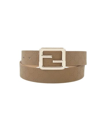 Deep Connections Belt - Dark Taupe
