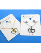 Shallow Heart Necklace Set