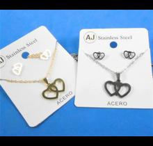 Shallow Heart Necklace Set